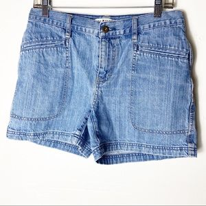 Tommy Hilfiger Womens Blue Denim Shorts Size 8